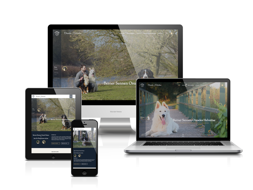 Website voor hondenkennel